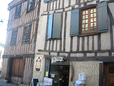 Colombage houses in the heart of Bergerac